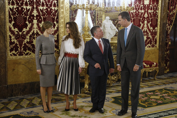Spanish Royals Host a Official Lunch For Jordan Royals