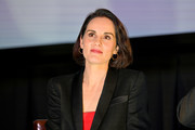 """Michelle Dockery speaks onstage during the Special NY Screening of """"The Gentlemen"""" at the Alamo Drafthouse on January 11, 2020 in New York City."""