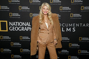 "Christie Brinkley attends a Special Screening Of National Geographic's Oscar-Nominated Documentary ""The Cave"" with Film Subject Dr. Amani Ballour at AMC Lincoln Square Theater on February 03, 2020 in New York City."