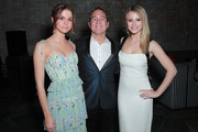 "(L-R) Maia Mitchell, William Bindley and Halston Sage attend the after party for the special screening of Netflix's ""The Last Summer"" on April 29, 2019 in Hollywood, California."
