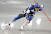 Keiichiro Nagashima of Japan competes in the men's 500m during the Japan Speed Skating Olympic Qualifying Championships at M Wave on December 28, 2013 in Nagano, Japan.