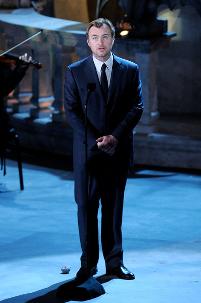 "Director Christopher Nolan accepts the Ultimate Scream award onstage during Spike TV's ""Scream 2010"" at The Greek Theatre on October 16, 2010 in Los Angeles, California."