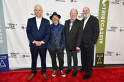 """(L-R) Christopher Guest, Harry Shearer, Michael McKean, and Rob Reiner attend the """"This Is Spinal Tap"""" 35th Anniversary during the 2019 Tribeca Film Festival at the Beacon Theatre on April 27, 2019 in New York City."""