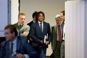 Christian Karembeu, football Legend and UEFA Global Ambassador arrives at the Sport, Youth & Human Rights Conference Hosted by Intenational Center For Sport Security (ICSS) during the EU Week Of Sport on September 8, 2015 in Brussel, Belgium.