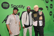 (L-R) Apl.de.ap, will.i.am and Taboo of The Black Eyed Peas attend the 2020 Spotify Awards at the Auditorio Nacional on March 05, 2020 in Mexico City, Mexico.