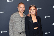 Evan Ross and Ashlee Simpson attend the Spotify Best New Artist 2020 Party at The Lot Studios on January 23, 2020 in Los Angeles, California.