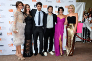 """(L-R) Actors Selena Gomez, Rachel Korine, James Franco, writer/director Harmony Korine and actresses Vanessa Hudgens and Ashley Benson attend the""""Spring Breakers"""" premiere during the 2012 Toronto International Film Festival at Ryerson Theatre on September 7, 2012 in Toronto, Canada."""