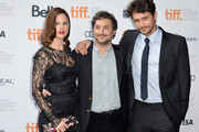 """(L-R) Actress Rachel Korine, writer/director Harmony Korine and actor James Franco attend the""""Spring Breakers"""" premiere during the 2012 Toronto International Film Festival at Ryerson Theatre on September 7, 2012 in Toronto, Canada."""