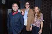 Phillip Crangi, Jenna Lyons, and Courtney Crangi pose for a picture as Spring celebrates #SpringIntoLove at The Standard on February 4, 2015 in New York City.