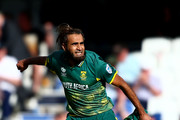 Imran Tahir of South Africa celebrates victory during the ICC Champions Trophy match between Sri Lanka and South Africa at The Kia Oval on June 3, 2017 in London, England.