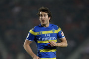 Stefan Ratchford of Warrington Wolves during the First Utility Super League match between St Helens and Warrington Wolves at Langtree Park on March 19, 2015 in St Helens, England.