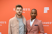 Jim Chapman (L) and Eric Underwood attend as St James's Hosts LFWM Shows on Jermyn Street on June 9, 2018 in London, England.