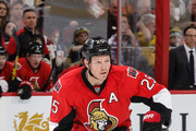 Chris Neil #25 of the Ottawa Senators skates against the St. Louis Blues during an NHL game at Canadian Tire Centre on March 1, 2016 in Ottawa, Ontario, Canada.
