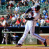 Freddie Freeman #5 of the Atlanta Braves hits a two-run home run during the fourth inning against the St. Louis Cardinals at SunTrust Park on September 19, 2018 in Atlanta, Georgia.