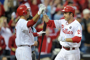 Chase Utley Raul Ibanez Photos Photo