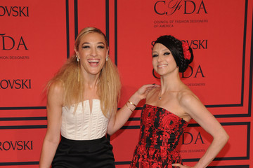 Stacey Bendet Mia Moretti Arrivals at the CFDA Fashion Awards