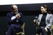 """Luca Guadagnino and Lila Azam Zanganeh attend the launch of Luca Guadagnino's """"The Staggering Girl"""", streaming worldwide on MUBI from February 15, 2020 at Relais Christine and Christine Cinema Club on January 21, 2020 in Paris, France."""