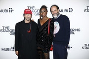 "(L-R) Pierpaolo Piccioli, Kiki Layne and Luca Guadagnino attend the launch of Luca Guadagnino's ""The Staggering Girl"", streaming worldwide on MUBI from February 15, 2020 at Relais Christine and Christine Cinema Club on January 21, 2020 in Paris, France."