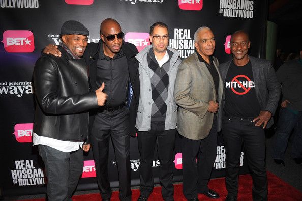 """BET Networks New York Premiere Of """"Real Husbands of Hollywood"""" And """"Second Generation Wayans"""" [real husbands of hollywood,second generation wayans,event,premiere,performance,carpet,flooring,red carpet,suit,stan lathan,stephen g. hill,jesse collins,jb smoove,chris spencer,new york,bet networks,premiere]"""