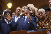 Eddie Griffin, Herb Wesson and Luenell attends the Stand UP: The Art And Politics Of Comedy Opens The City Of Los Angeles' Black History Month Celebration at Los Angeles City Hall on February 04, 2020 in Los Angeles, California.