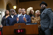 Tiffany Haddish, Eddie Griffin, Luenell, Herb Wesson  and Joe Torry attend the Stand UP: The Art And Politics Of Comedy Opens The City Of Los Angeles' Black History Month Celebration at Los Angeles City Hall on February 04, 2020 in Los Angeles, California.