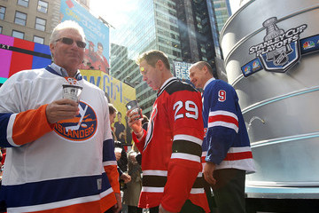 Clark Gillies Stanley Cup Fountain Unveiled In Times Square
