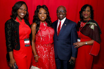 Star Jones The American Heart Association's Go Red For Women Red Dress Collection 2019 - Backstage
