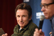 Actors Dominic Keating (L) and Connor Trinneer from Star Trek: Enterprise take part in a panel discussion during Star Trek: Mission New York at Javits Center on September 2, 2016 in New York City.