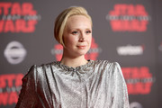 Actor Gwendoline Christie at Star Wars: The Last Jedi Premiere at The Shrine Auditorium on December 9, 2017 in Los Angeles, California.