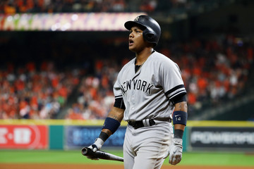 Starlin Castro League Championship Series - New York Yankees v Houston Astros - Game One