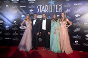 Nicole Kimpel, Antonio Banderas, Sandra Garcia-Sanjuan and Barbara Kimpel attend Starlite Gala on August 11, 2019 in Marbella, Spain.