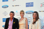 Antonio Banderas, Melanie Griffith and Sandra Garcia-Sanjuan attends the 4th annual Starlite Charity Gala on August 10, 2013 in Marbella, Spain.
