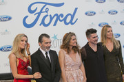 (L-R) Nicole Kimpel, Antonio Banderas, Sandra Garcia San Juan, Juanes and Barbara Kimpel attend the Starlite Gala on August 11, 2018 in Marbella, Spain.
