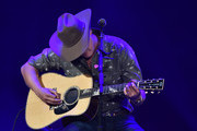 """Jon Pardi performs on stage during """"Stars and Strings Presented by RAM Trucks Built to Serve,"""" a RADIO.COM Event, at the Fox Theatre on November 06, 2019 in Detroit, Michigan."""