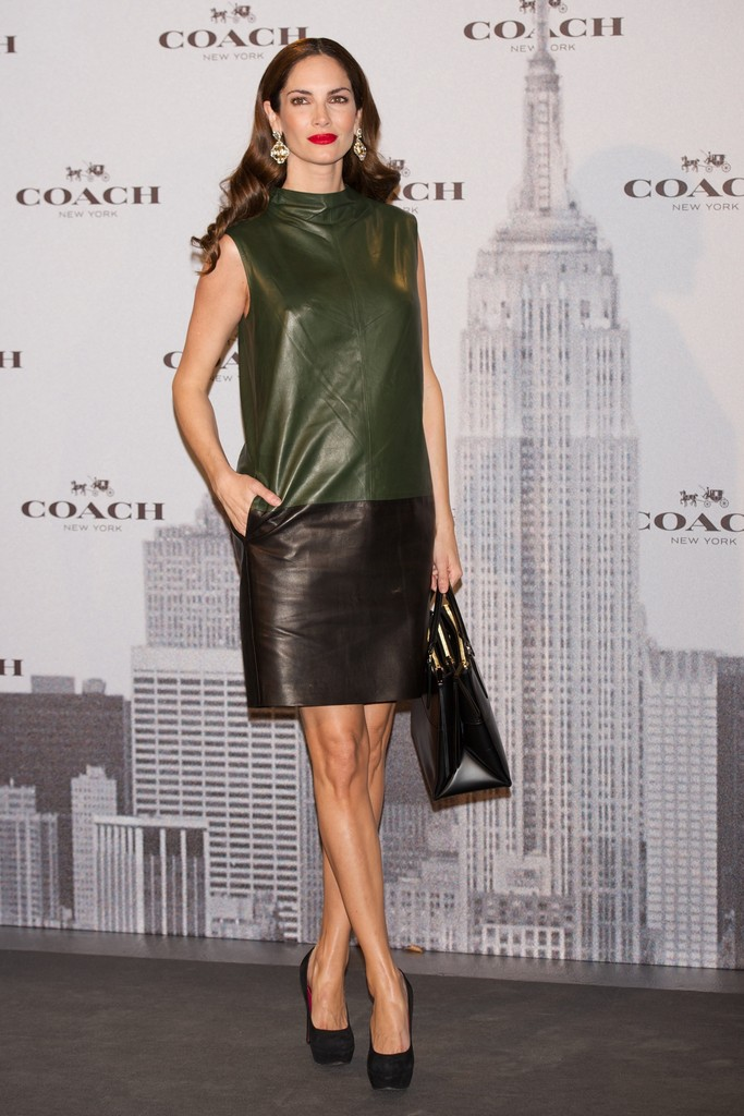 Spanish model Eugenia Silva attends the Coach Boutique opening on November 20, 2013 in Madrid, Spain.