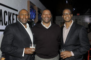 Lonnie Young, Carl Banks and Paul Bobbit attend Starter Parlor - Super Bowl XLVII on February 2, 2013 in New Orleans, Louisiana.