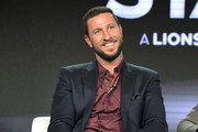 Pablo Schreiber of 'American Gods' speaks onstage during Starz 2019 Winter TCA Panel & All-Star After Party on February 12, 2019 in Los Angeles, California.