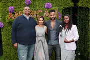 (L-R) Executive Producer/Writer Rodney Barnes, Director Salli Richardson-Whitfield, Mousa Kraish and Yetide Badaki attend Starz FYC 2019 — Where Creativity, Culture and Conversations Collide on June 02, 2019 at Westfield Century City in Century City, California.