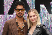 Actors Avan Jogia (L) and Kelli Berglund (R) attend the Starz FYC Day at The Atrium at Westfield Century City on June 02, 2019 in Los Angeles, California.