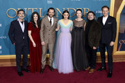 "(L-R) Matthew B. Roberts, Maril Davis, Richard Rankin, Sophie Skelton, Caitriona Balfe, Ronald D. Moore, and Sam Heughan attend the Starz Premiere event for ""Outlander"" Season 5 at Hollywood Palladium on February 13, 2020 in Los Angeles, California."