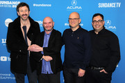 """Chris O'Dowd, Nick Hornby, Jamie Laurenson, and Hakan Kousetta attend """"State Of The Union"""" Red Carpet at The Ray on January 28, 2019 in Park City, Utah."""