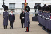 Prince Philip, the Duke of Edinburgh (R) and Senor Enrique Pena Nieto inspect The Guard of honour during a ceremonial welcome for the State Visit of The President of The United Mexican, Senor Enrique Pena Nieto and Senora Rivera at Horse Guards Parade on March 3, 2015 in London, England.  The Ceremony marks the start of a three day visit to Britain.