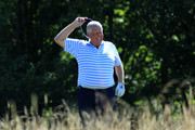Colin Montgomerie of Scotland in action during Day Two of The Staysure PGA Seniors Championship at The London Club on August 3, 2018 in Ash, England.