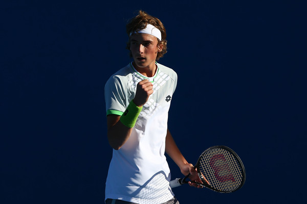 Stefanos Tsitsipas Stefanos Tsitsipas Of Greece In Action