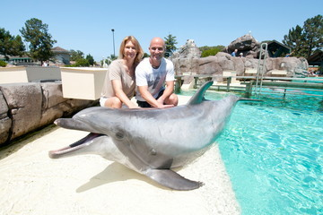 Steffi Graf Celebs Hang Out at SeaWorld