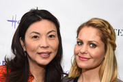 Hannah An and Candace Cameron Bure attend the Stella & Dot x HollyRod Foundation Charity Trunk Show for Autism Awareness Month on April 11, 2018 in Los Angeles, California.