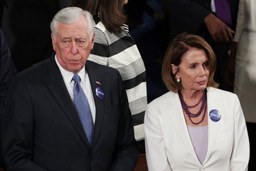 Steny Hoyer Donald Trump Delivers Address to Joint Session of Congress