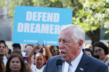 Steny Hoyer Activists Demonstrate Outside U.S. Capitol for Passage of Clean Dream Act