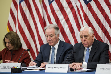 Steny Hoyer House Democratic Leader Nancy Pelosi And House Dem Leadership Hold Forum on the GOP Tax Plan