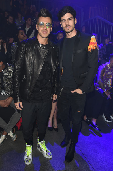 Philipp Plein - Front Row - Milan Fashion Week Fall/Winter 2020-2021 [event,performance,fashion,fashion design,eyewear,party,leather jacket,philipp plein,guest,stephan el shaarawy,front row,milan,italy,milan fashion week,fashion show,red carpet,fashion,celebrity,stx it20 risk.5rv nr eo,suit,clothing,outerwear,socialite,formal wear,jacket]